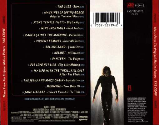 The Crow - Soundtrack - Back